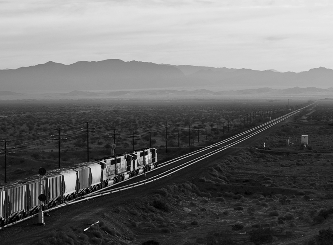 Eastbound at Basin, Eastern Exit of Afton Canyon, California  2006