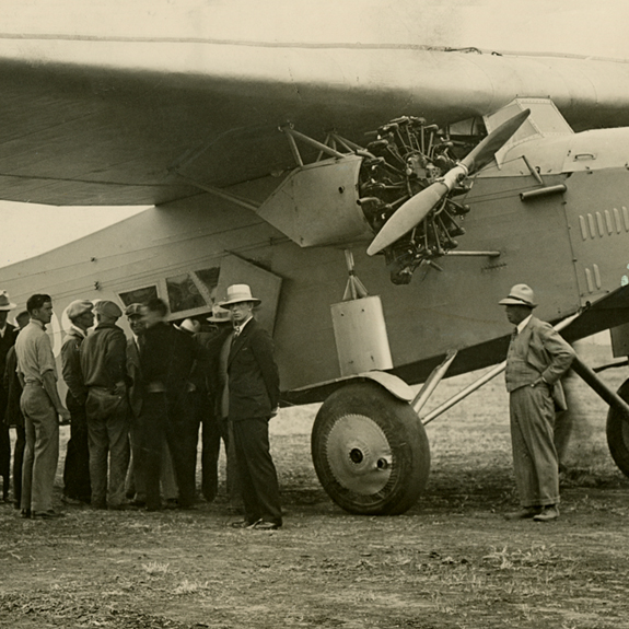 The Fokker F.VIIb/3m Southern Cross and crew  1928