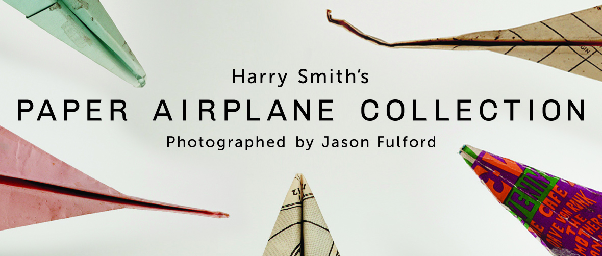 Harry Smith's Paper Airplane Collection. Photographed by Jason Fulford