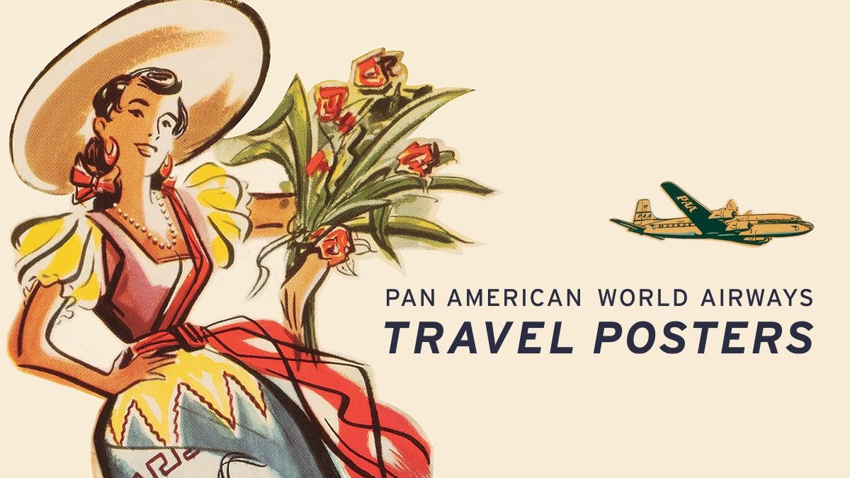 Vintage Pan American Travel Poster