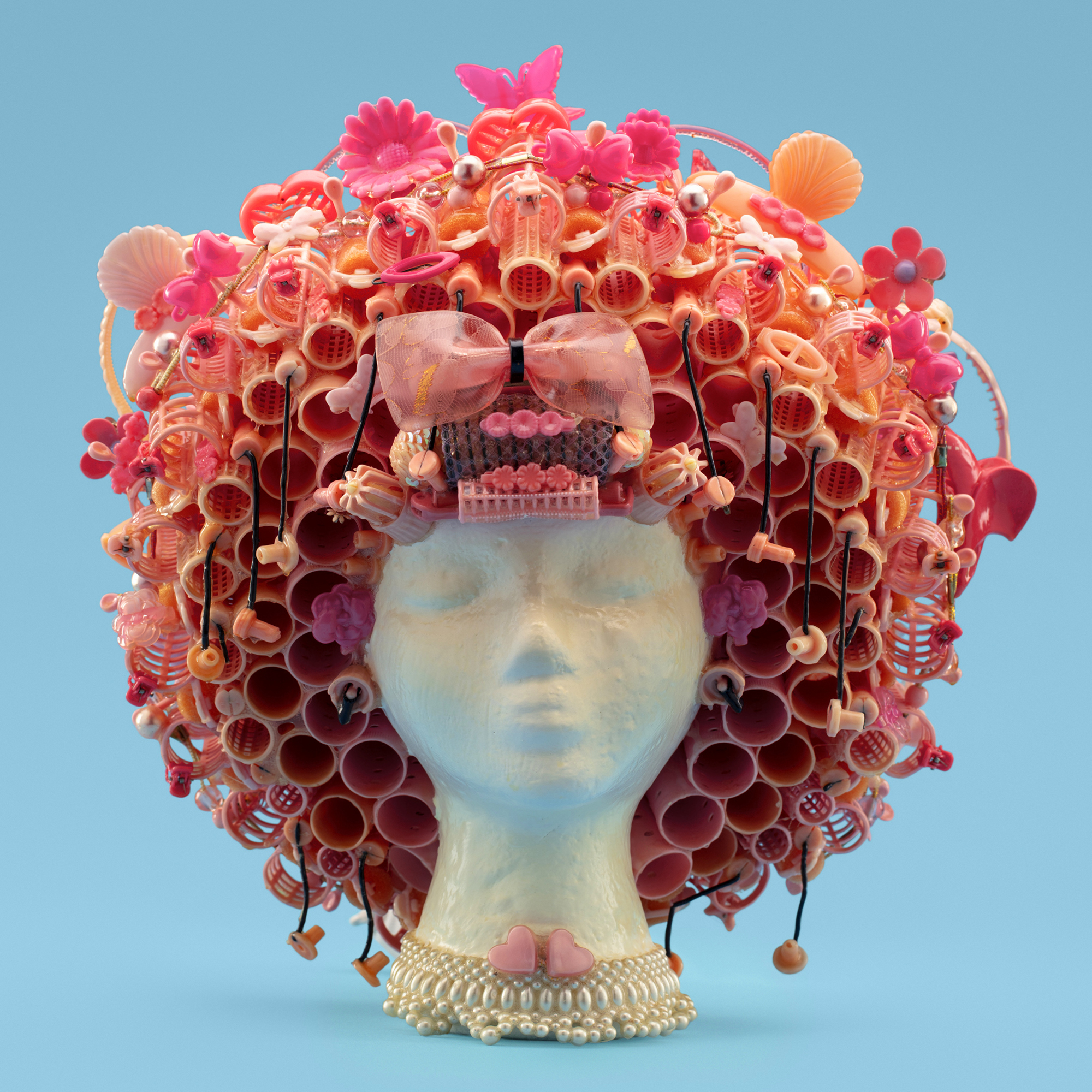 """The Afro"" Wig Sculpture; artist Jeff Hafler, Beauty Bubble Salon and Museum"