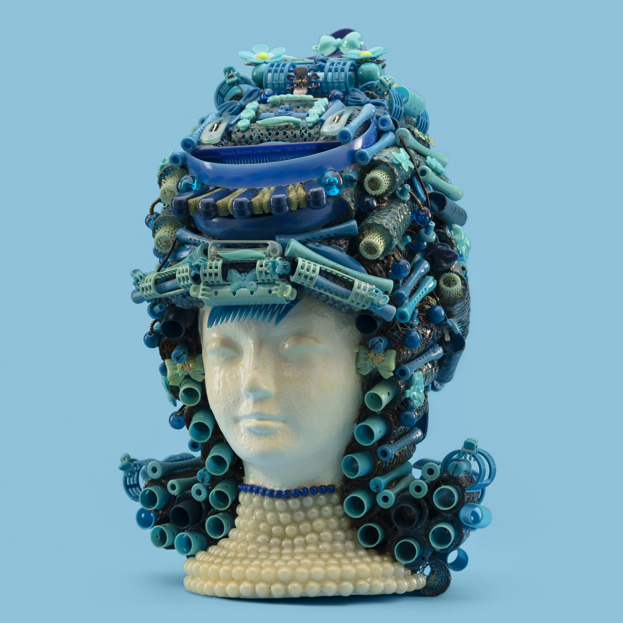 """The Flip"" Wig Sculpture; artist Jeff Hafler, Beauty Bubble Salon and Museum"