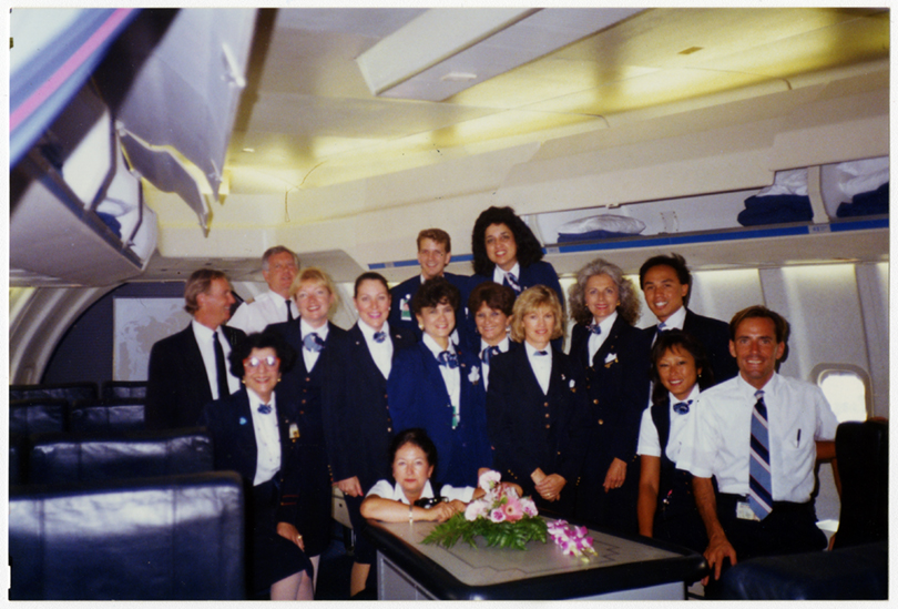 Flight and ground crew at Los Angeles International Airport