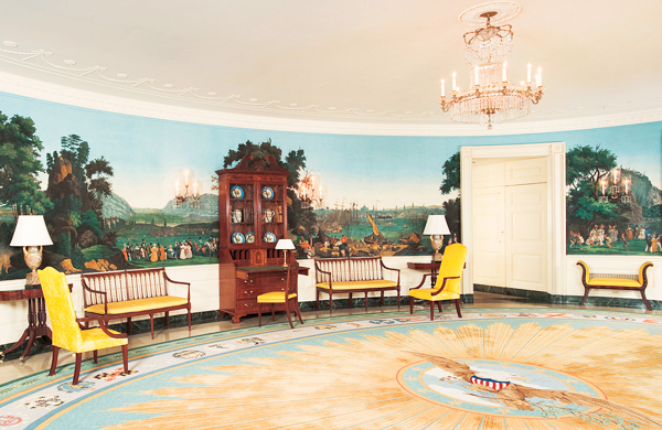 Diplomatic Reception Room at the White House, Washington, D.C.  2010 Photograph by Bruce White  White House Historical Association R2019.0310.001