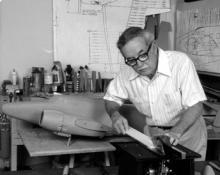 Edward Chavez (1917-2004) in his workshop