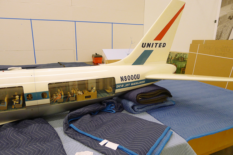 Conserving a Cutaway Model: United Air Lines Douglas DC-8. Tail Section, After Treatment