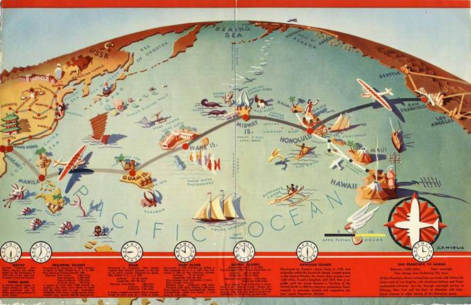 route map: Pan American Airways