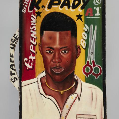 """""""K Pady"""" barbershop sign  c. early 1990s"""