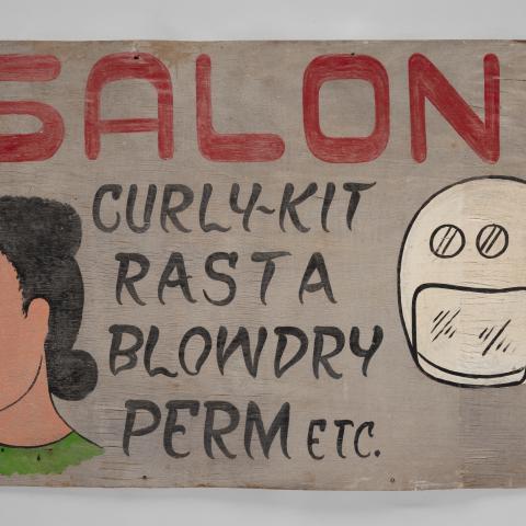 """Salon"" sign c. 2010"
