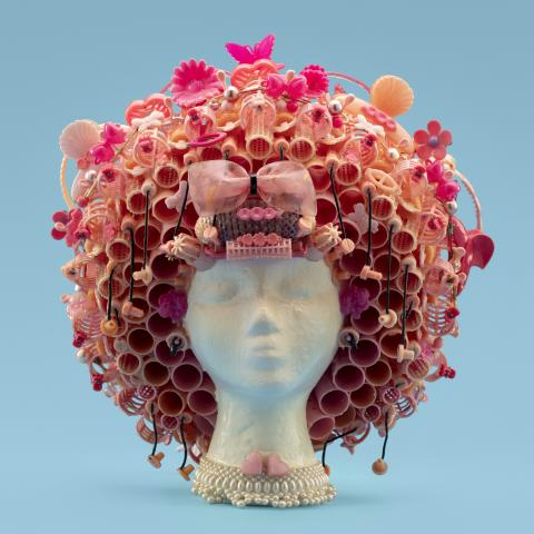 """""""The Afro"""" hair sculpture c. 2018"""