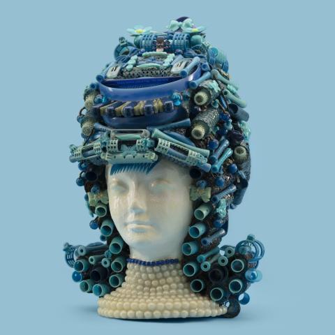 """The Flip"" hair sculpture  c. 2018"