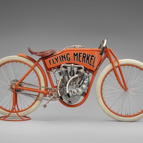 Flying Merkel twin-cylinder racer  1912