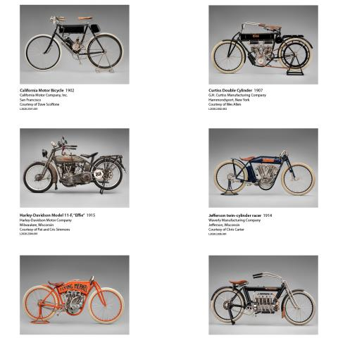 Early American Motorcycles Press Images Index