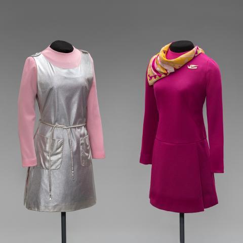 "Braniff International Airways ""Classic Collection"" uniforms  1968"