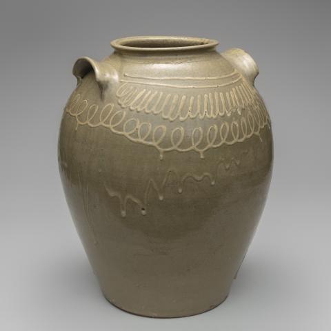 Storage jar c. 1850; Thomas Chandler (1810–54)