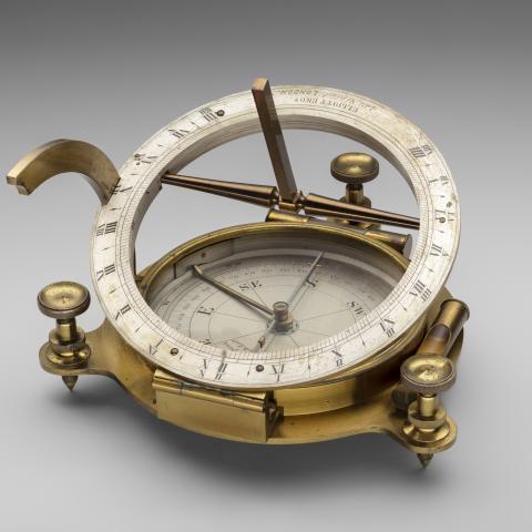 Equinoctial inclining sundial  c. 1865