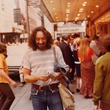 Harvey Milk on West 47th Street in Manhattan 1972
