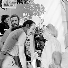 Harvey Milk campaigning on Castro Street Summer 1973