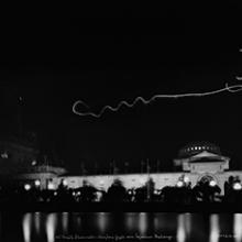 Art Smith performing an illuminated night flight at the Panama-Pacific International Exposition, San Francisco  1915