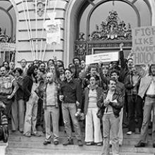 Anti-Proposition 6 rally on the steps of San Francisco's City Hall  May 1, 1978