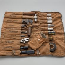 National Air Lines/United Air Lines mechanic roll-up tool set  late 1920s