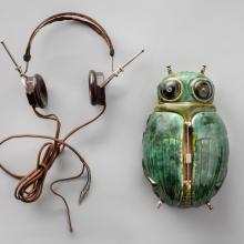 "The ""Mystic"" Radio Bug and headset  c. 1927"