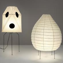 Akari Floor Lamp Model UF3-Q  1984; Akari Floor Lamp Model 23N  1968