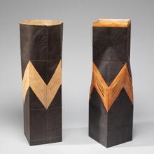 Washi Vessels  1987; Kay Sekimachi