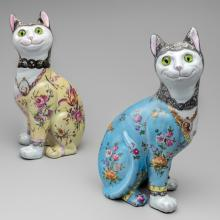 Seated cats  c. 1900