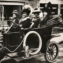 Madam C. J. Walker behind the wheel of her Model T Ford