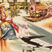 Pan American World Airways Travel Poster Mexico  c. 1950s