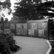 Approaching the Korean War Memorial  2017