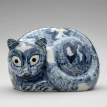Cat night-light  late 18th–early 19th century