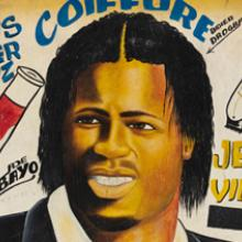 Didier Drogba barbershop sign  c. 2004