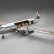 KLM (Koninklijke Luchtvaart Maatschappij) Royal Dutch Airlines Douglas DC-4model aircraft late 1940s