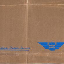 "United Air Lines ""Mainliner Sleeper Service"" bag 1930s"