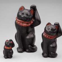 Maneki neko trio  c. 1920-30