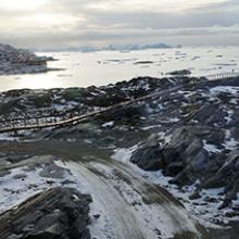 Dog sled trail near Ilulissat, Greenland  2009