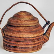 Basket-shaped teakettle  before 1898