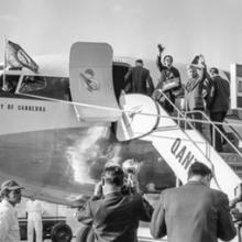 Qantas Airways Boeing 707 City of Canberra on inaugural Sydney to San Francisco flight