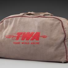 TWA (Trans World Airlines) bag 1950s