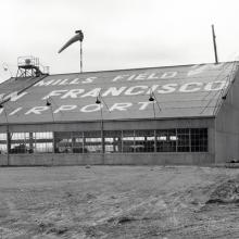 Mills Field Hangar No. 1 viewed from the north west January 13, 1928
