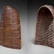 Woman's basket and rain cape (tudung) 20th century