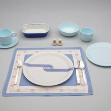 United Air Lines Embossed and Mainliner pattern meal service set  late 1930s–early 1940s