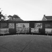 Korean War Memorial, facing east  2017