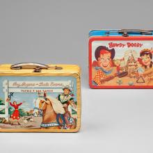 Roy Rogers and Dale Evans lunch box  1954, Howdy Doody lunch box  1954