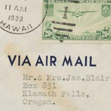 Pan American Airways, Canton Island first flight airmail flight cover
