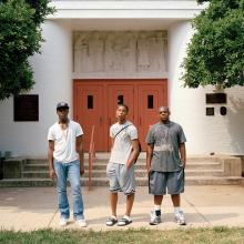 Teens in Front of Community Center, Greenbelt, Maryland  2009