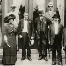 Madam C. J. Walker and Booker T. Washington at a YMCA opening