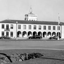 Administration and Terminal Building, west elevation, San Francisco Airport. November 16, 1938